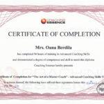 Master Coach Certificate_Oana Berdila